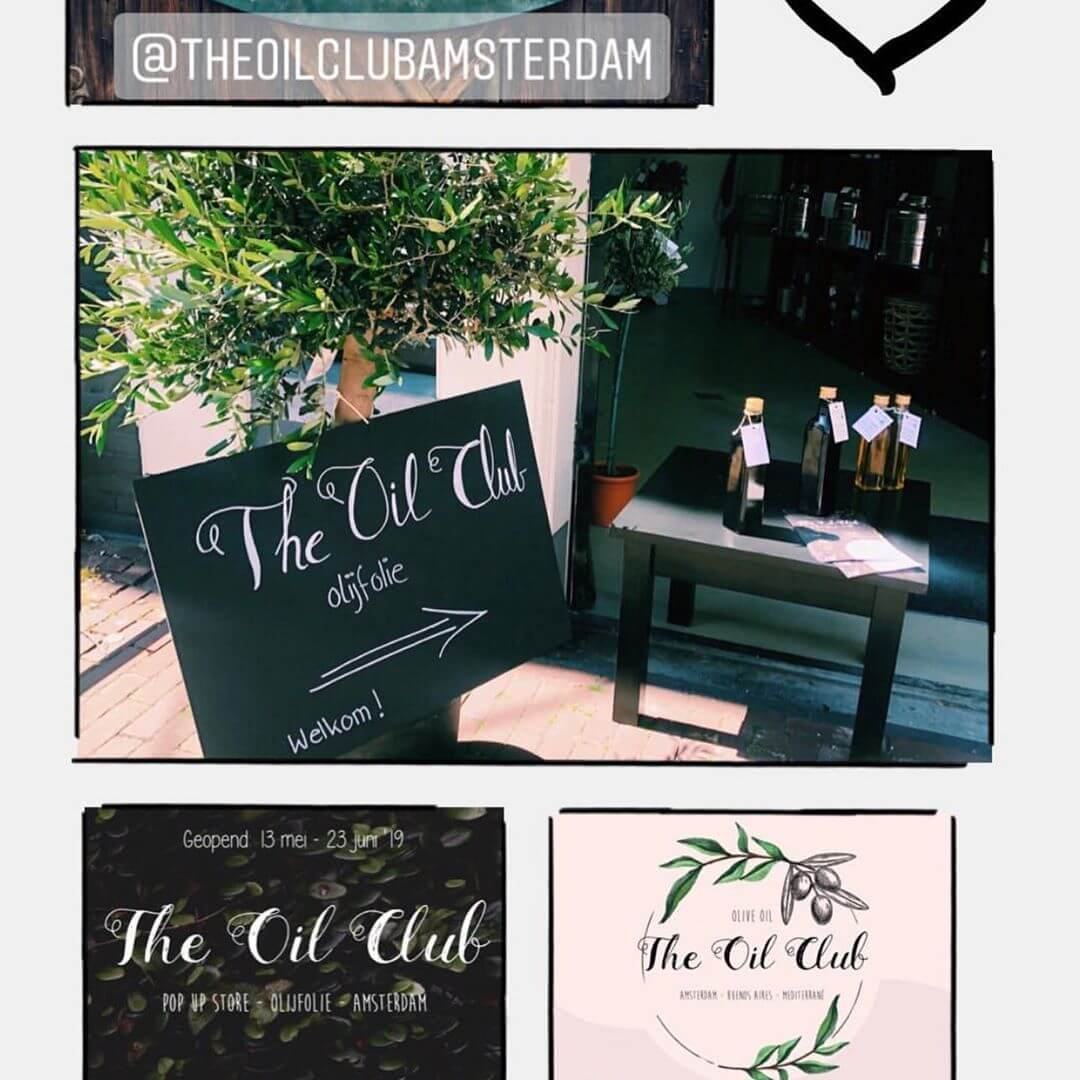 @theoilclubamsterdam is officieel geopend! ⠀ Maandag was het zo ver en begonnen ze hun #popupstore met olijfolie, olijfboompjes, zout en nog veel meer! Wij zijn er klaar voor, en jullie?⠀ ⠀ #theoilclub #popup #oliveoil #olivetrees #popupamsterdam